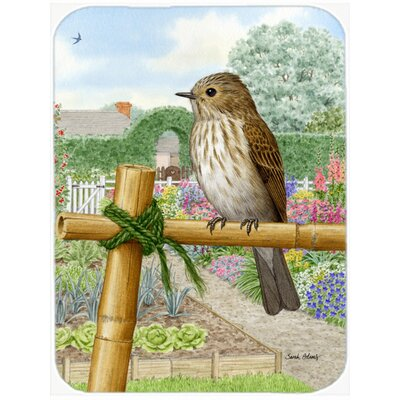 Spotted Flycatcher Glass Cutting Board