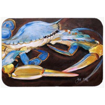 Crab in Dark Brown Background Glass Cutting Board