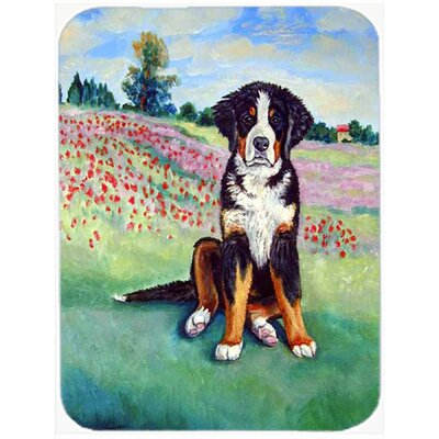 Dog on Flowerfield Glass Cutting Board