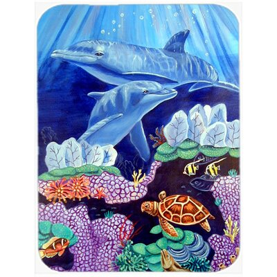 Dolphin under the Sea Glass Cutting Board