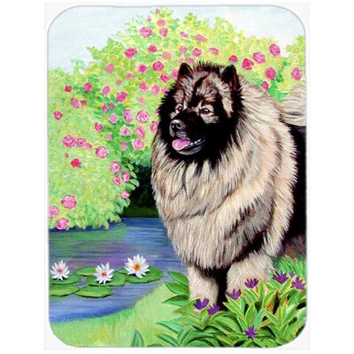 Keeshond Glass Cutting Board