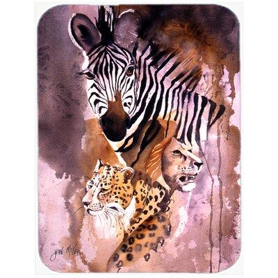 Cheetah, Lion, and Zebra Glass Cutting Board