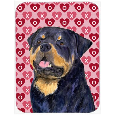 Valentine Hearts Rottweiler Hearts Love and Valentine's Day Portrait Glass Cutting Board
