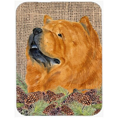 Chow Chow and Pine Cone Glass Cutting Board