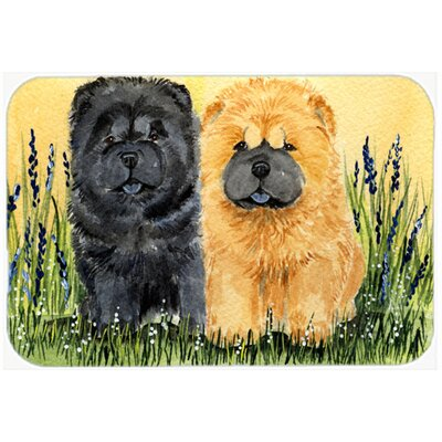 Chow Chow Double on Grass Glass Cutting Board