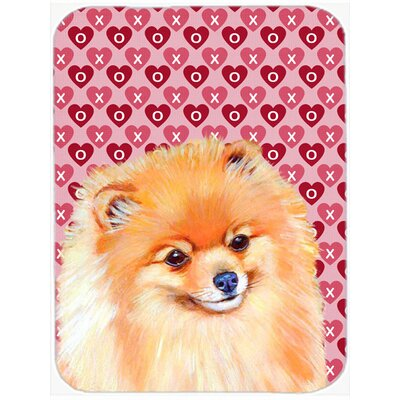 Valentine Hearts Pomeranian Hearts Love and Valentine's Day Portrait Glass Cutting Board