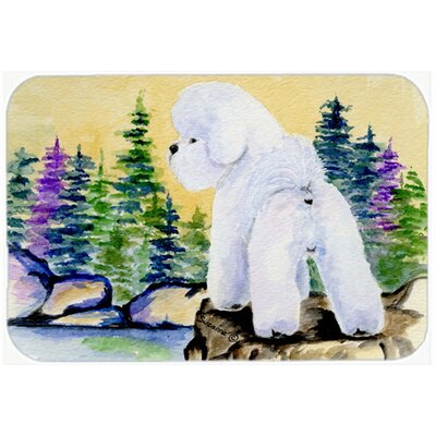 Bichon Frise and Trees Glass Cutting Board