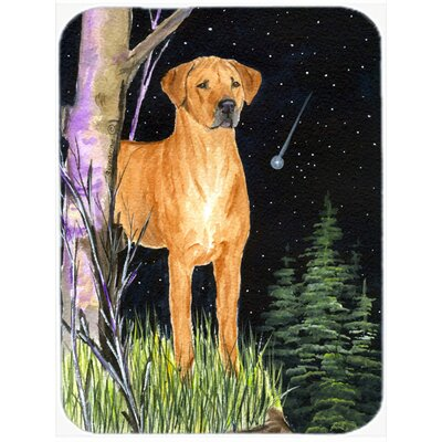 Starry Night Rhodesian Ridgeback Glass Cutting Board