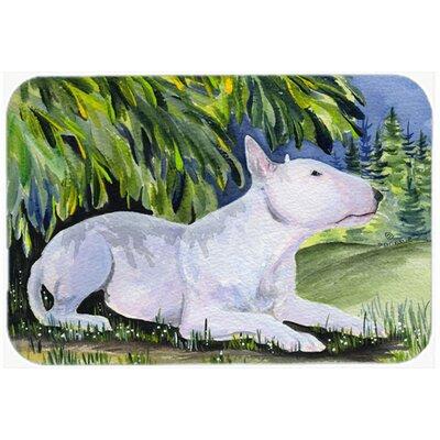 White Bull Terrier Glass Cutting Board