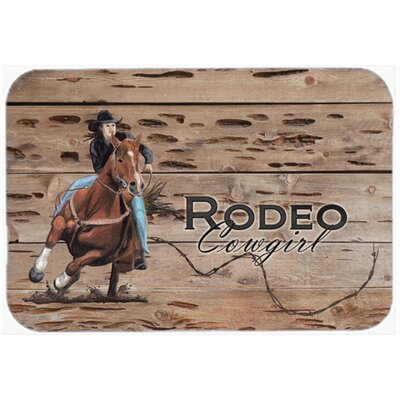 Rodeo Cowgirl Barrel Racer Glass Cutting Board