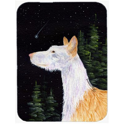 Starry Night Ibizan Hound Glass Cutting Board