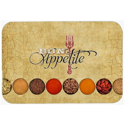 Bon Appetite and Spices Glass Cutting Board