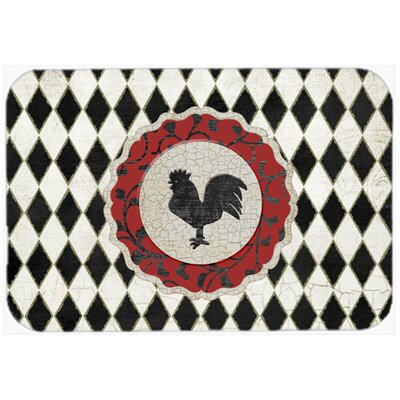 Jaiden Rooster Harlequin Glass Cutting Board