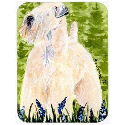 Soft Coated Wheaten Terrier Glass Cutting Board