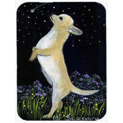 Chihuahua at Night Glass Cutting Board