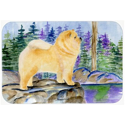 Chow Chow on Rock Glass Cutting Board