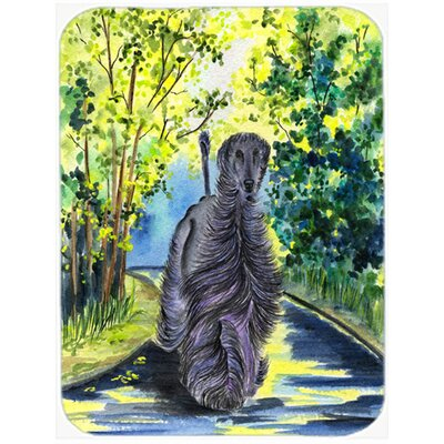 Afghan Hound and Trees Glass Cutting Board