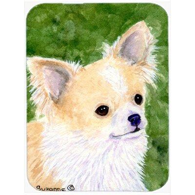 Chihuahua Rectangle Green Glass Cutting Board