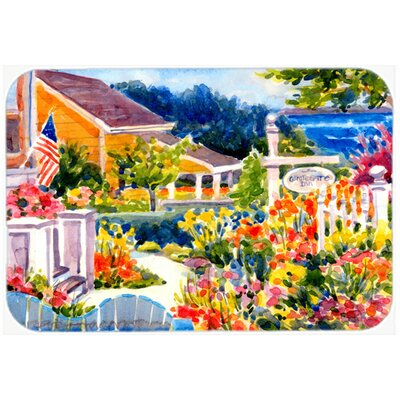 Seaside Beach Cottage Glass Cutting Board