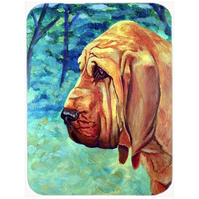 Bloodhound Thoughtful Glass Cutting Board