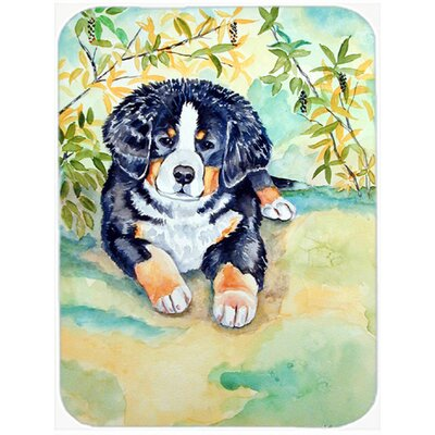 Bernese Mountain Dog Puppy Glass Cutting Board