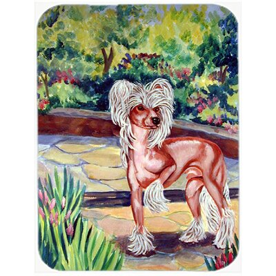 Chinese Crested on the Patio Glass Cutting Board