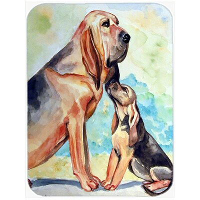 Bloodhound Momma's Love Glass Cutting Board