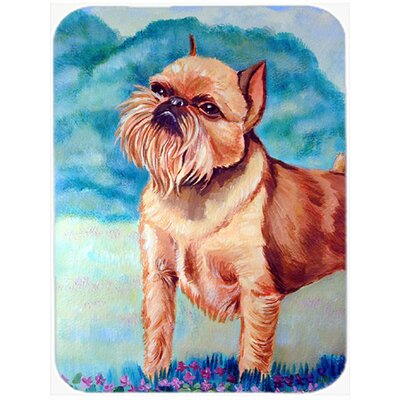 Brussels Griffon Rectangle Tempered Glass Cutting Board