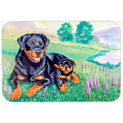 Two Rottweiler Glass Cutting Board