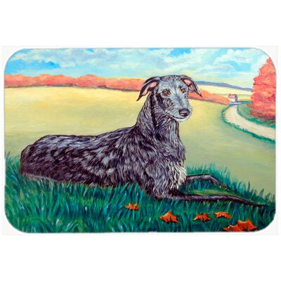 Scottish Deerhound Glass Cutting Board