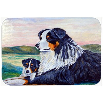 Australian Shepherd Double Glass Cutting Board