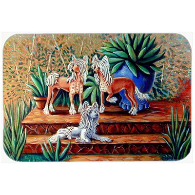 Chinese Crested Rectangle Tempered Glass Cutting Board