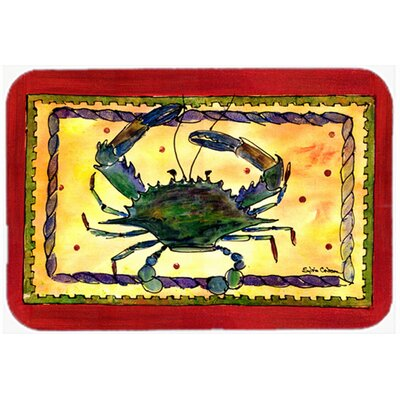 Rectangle Red/Yellow Crab Glass Cutting Board