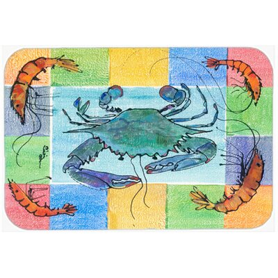 Crab and Shrimp Glass Cutting Board