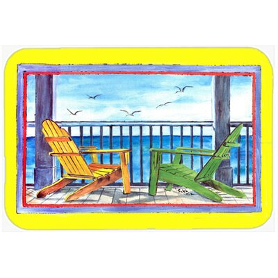 Adirondack Chairs Glass Cutting Board Color: Yellow
