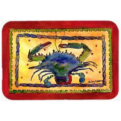 Crab Red/Yellow Glass Cutting Board