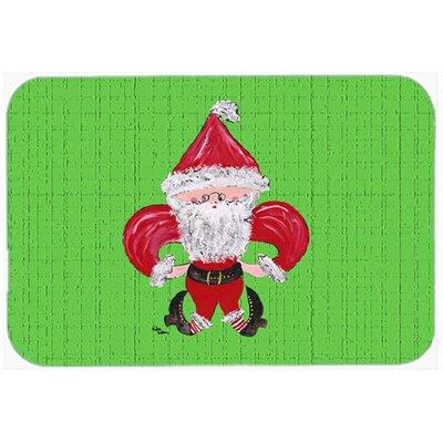 Fleur de lis Christmas Santa Claus Glass Cutting Board