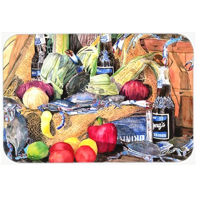 Crab and Bottle Glass Cutting Board