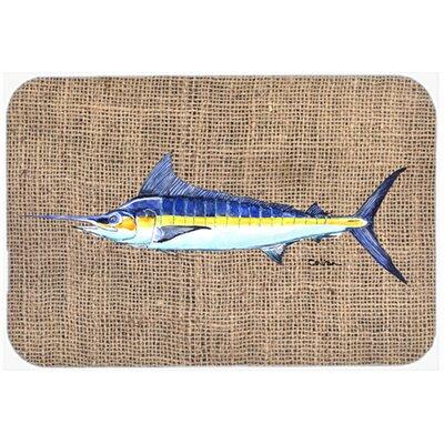 Marlin Fish Glass Cutting Board
