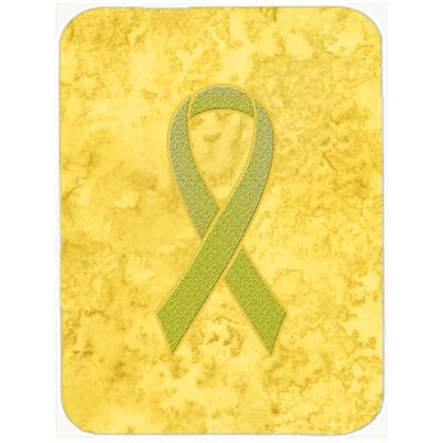 Ribbon for Awareness Glass Cutting Board Color: Yellow