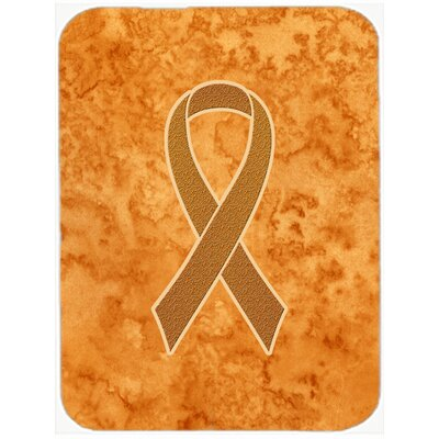 Ribbon for Awareness Glass Cutting Board Color: Orange