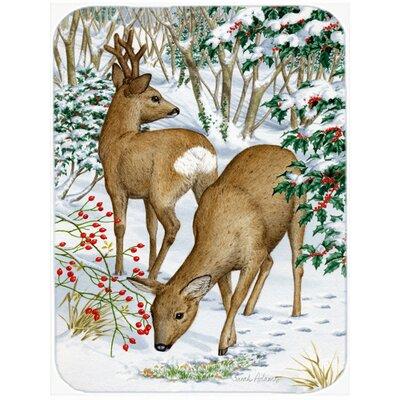European Western Roe Deer Glass Cutting Board