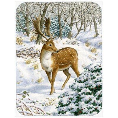 Fallow Buck Deer Glass Cutting Board