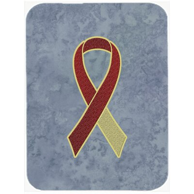Ribbon for Awareness Glass Cutting Board Color: Burgundy/Ivory