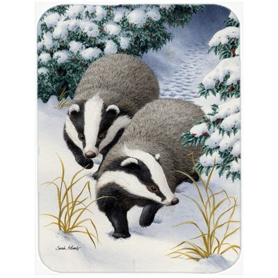 Badger on the Move Glass Cutting Board