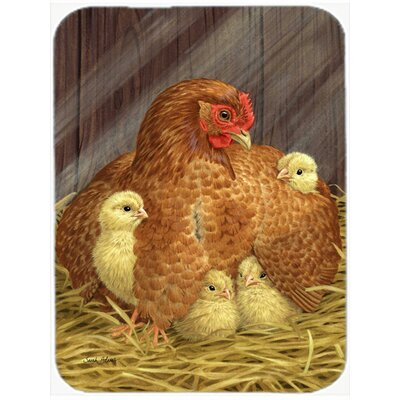 My Little Chickadees with Hen Chicken Glass Cutting Board
