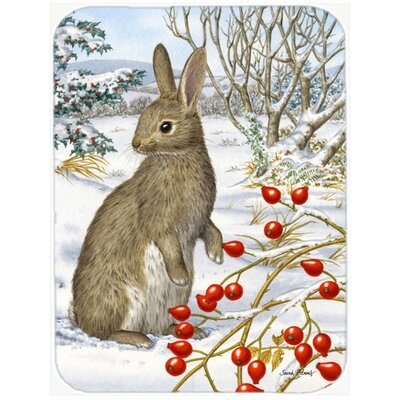 Rabbit with Berries Glass Cutting Board