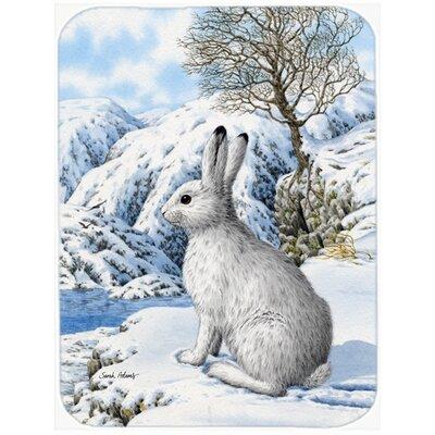 Mountain Hare Rabbit Glass Cutting Board