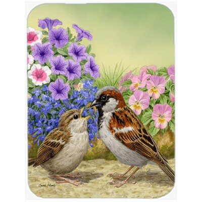 House Sparrows Glass Cutting Board
