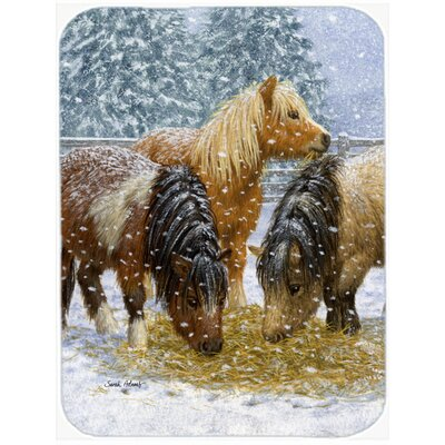 Shetland Ponies Glass Cutting Board